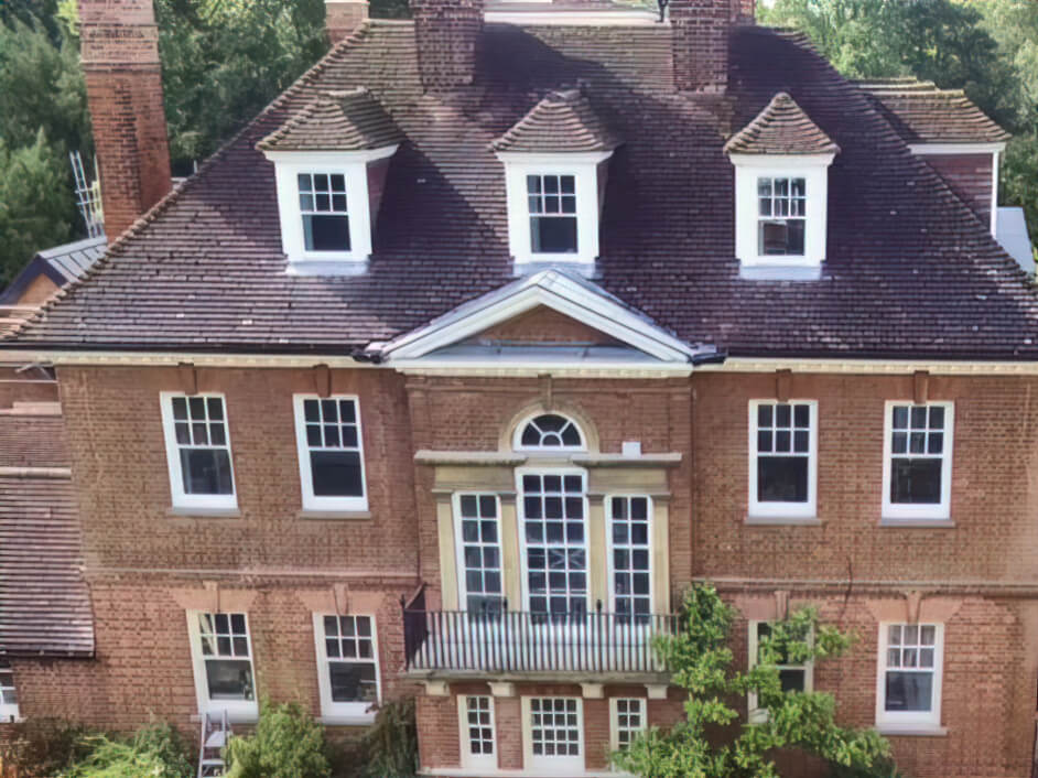 Sash Windows Repair and Spray Painting of 50+ sash windows in a beautiful house in the heart of Cambridge