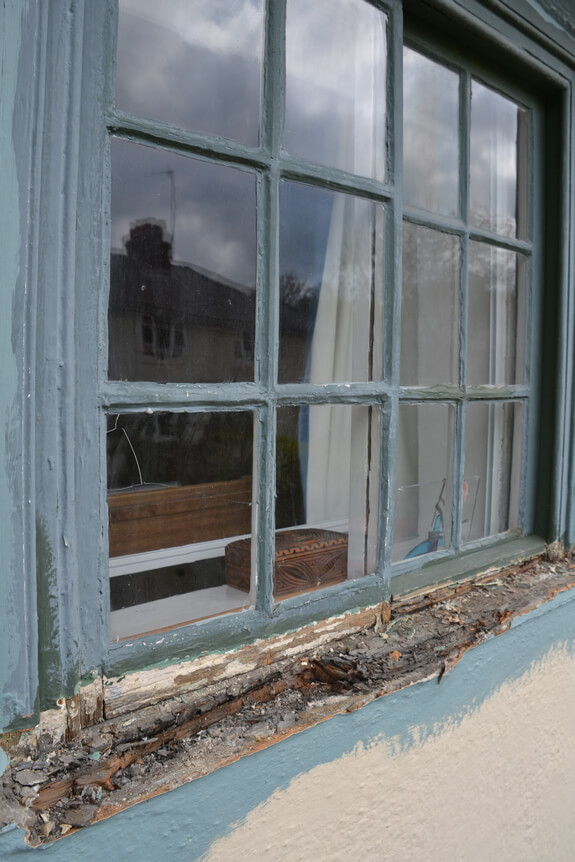 Rotten window sill replacement