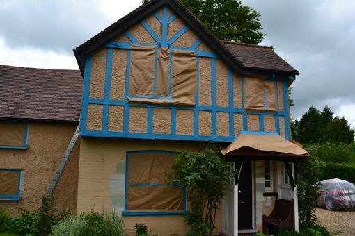 Exterior decoration in Meldreth