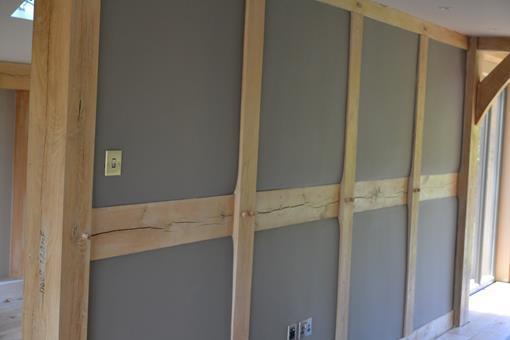 timber frame door painting