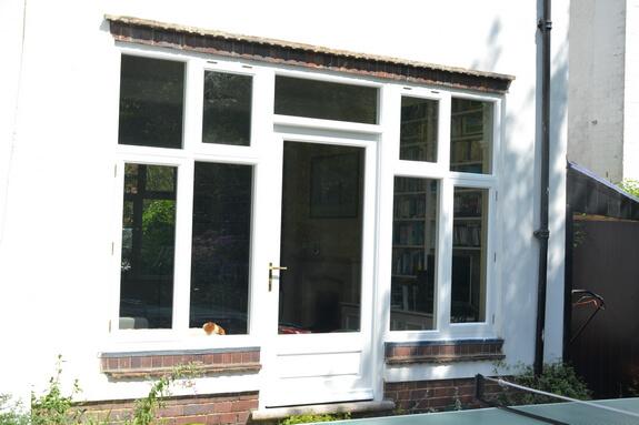 entrance door with set of windows