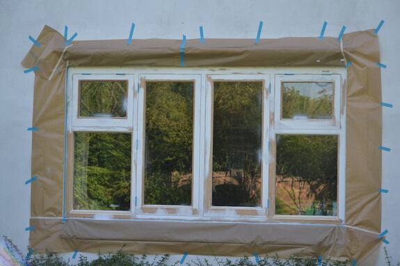 preparation for windows painting