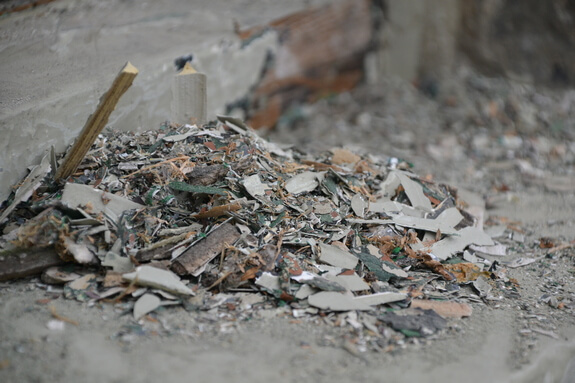 Paint chipping pile