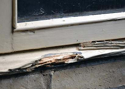 Decayed window sills