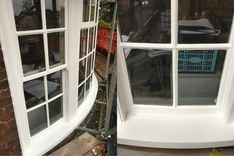Curved sash repair after