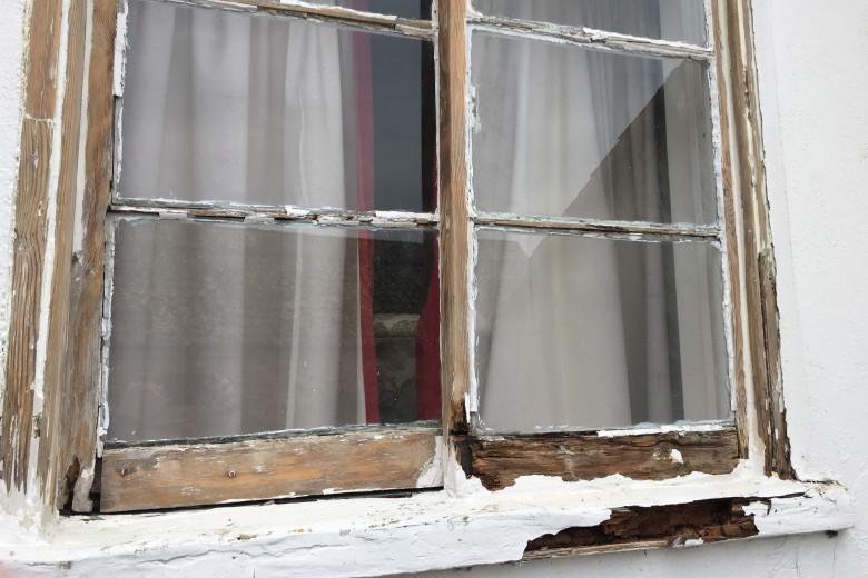 old cottage window repair