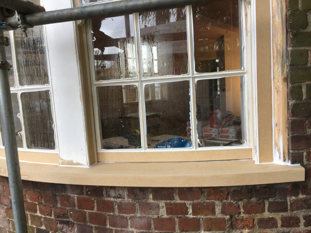repairing curved window sill