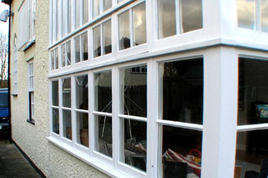 Repaired conservatory
