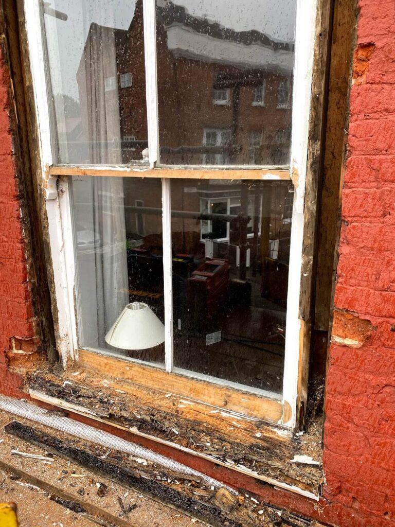 Sash windows windows sill repair