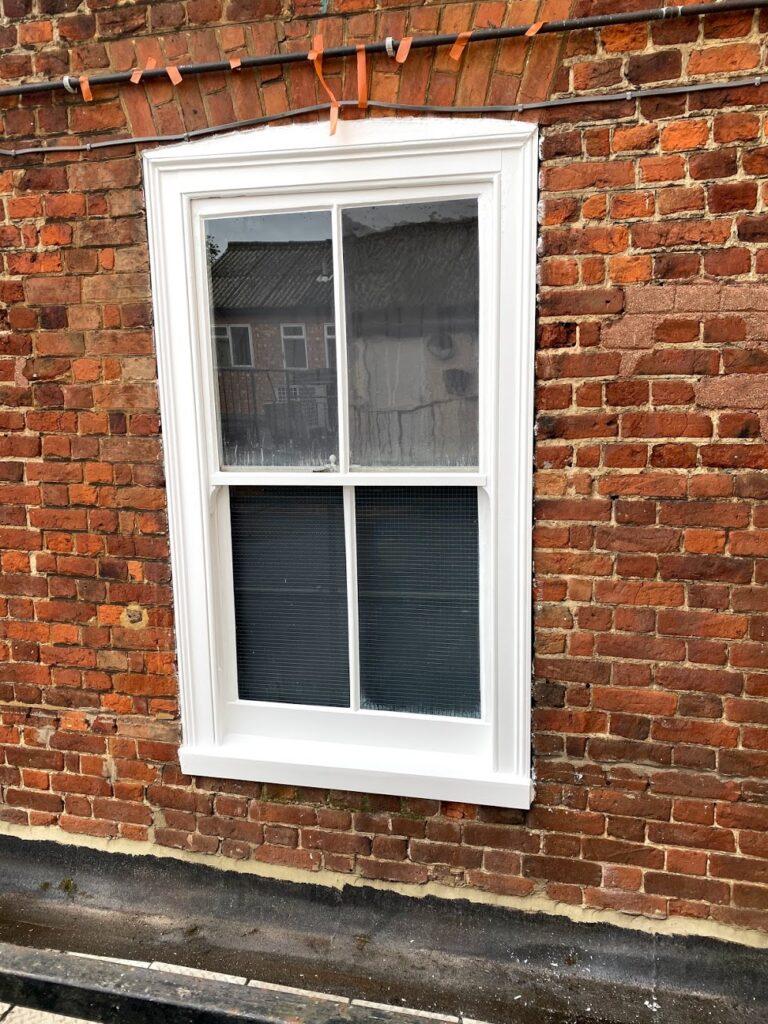 wooden windows painting potton