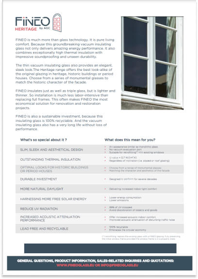 Fineo Glass datasheet
