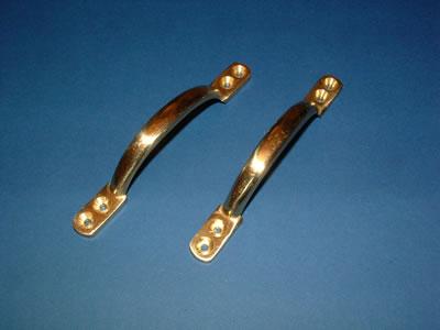 D sash window handles (brass)