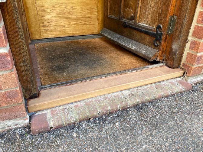 external door threshold sill