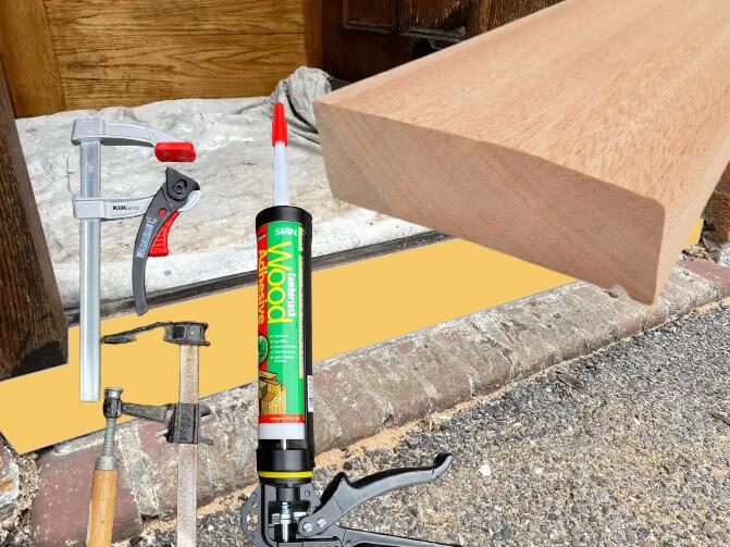 wooden door sill adhesive