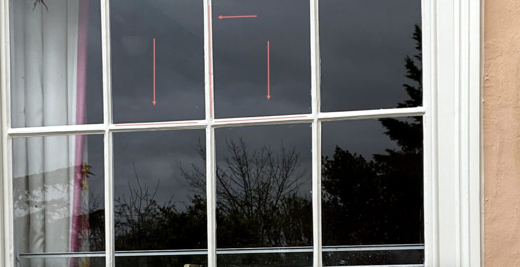 Sash windows painting