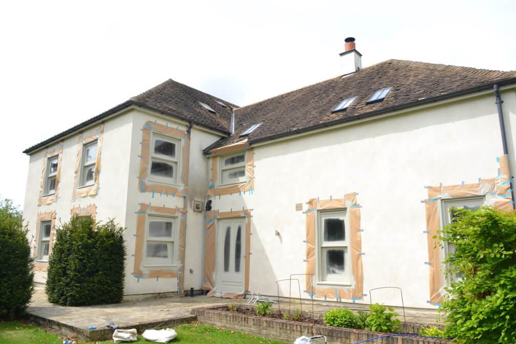 Sash windows painting Cambridgeshire