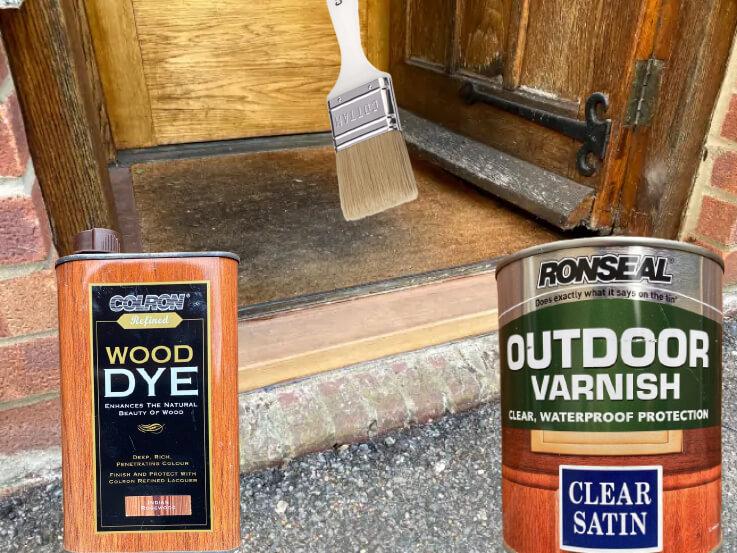 wooden door sill Clear Satin Varnish