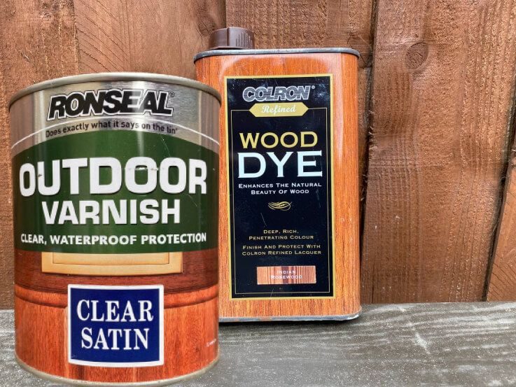 wooden door sill wood dye