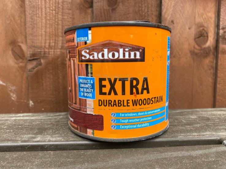wooden door sill woodstain