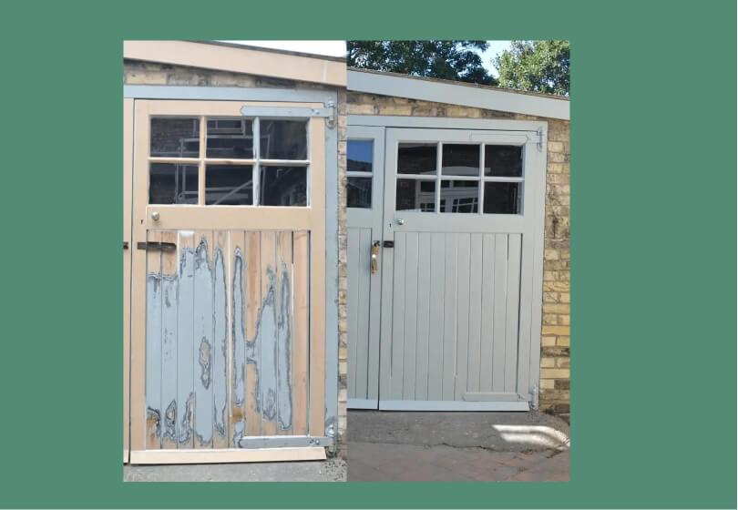 How to paint a wooden garage door