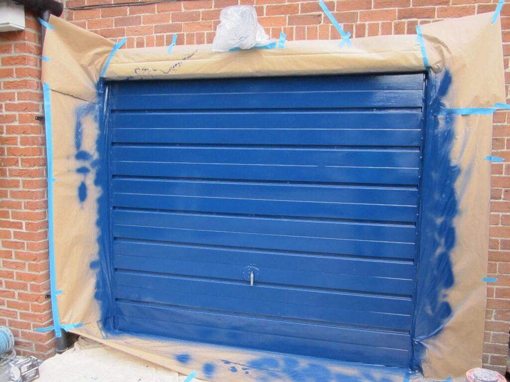 Prepare the garage door for painting