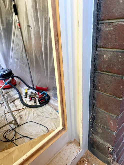 rebate sash window before vacuum double glazing installation
