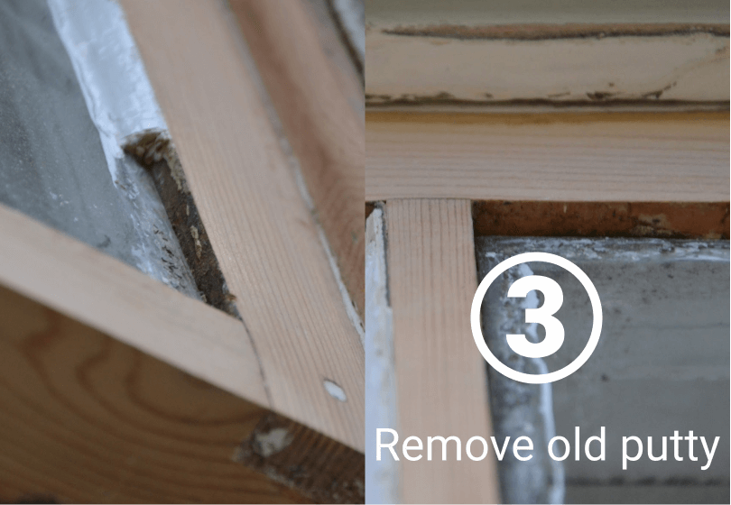 Remove old putty