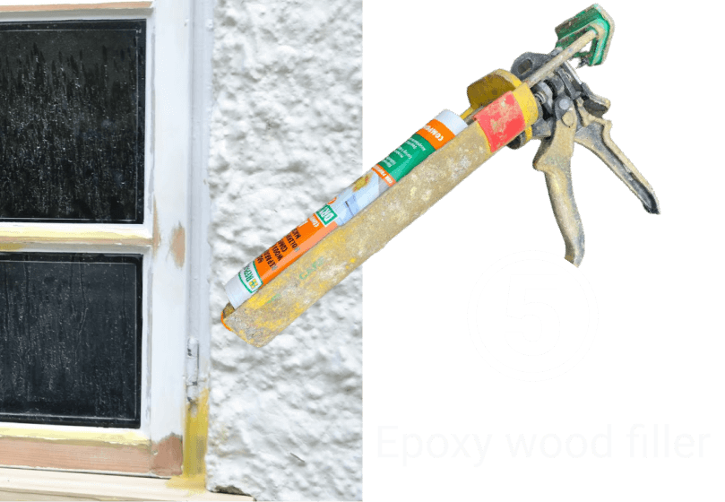 Repair wood with epoxy wood filler