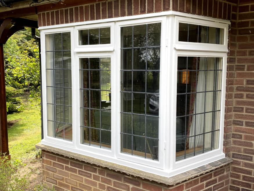 bay window painted and repaired