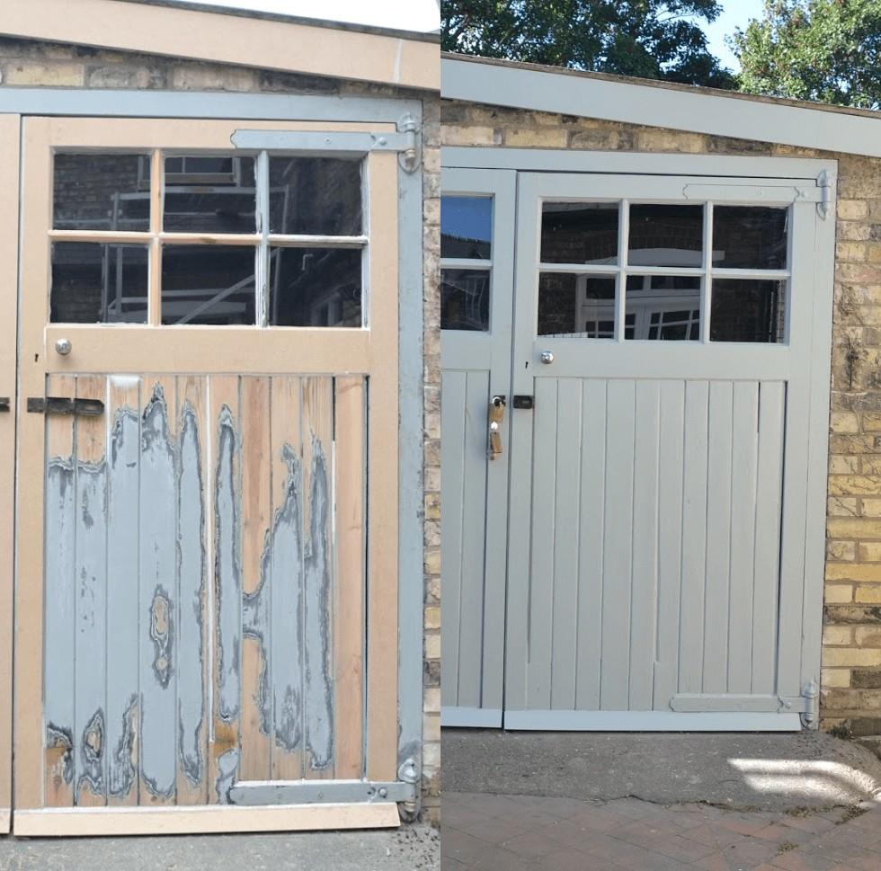 paint a wooden garage door