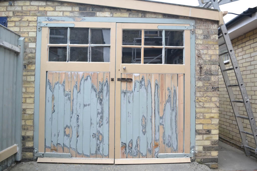 repair a wooden garage door
