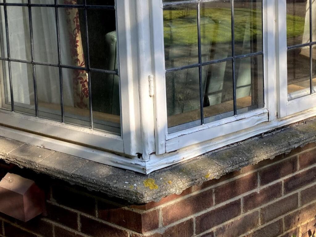 rotten bay window frame