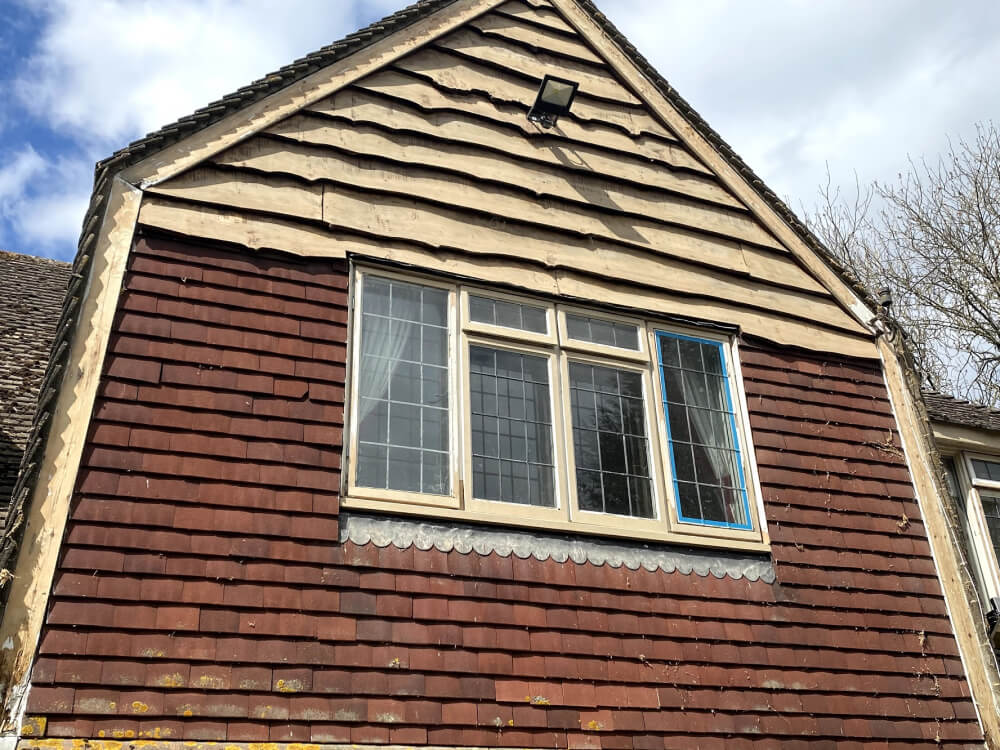 sanded timber cladding
