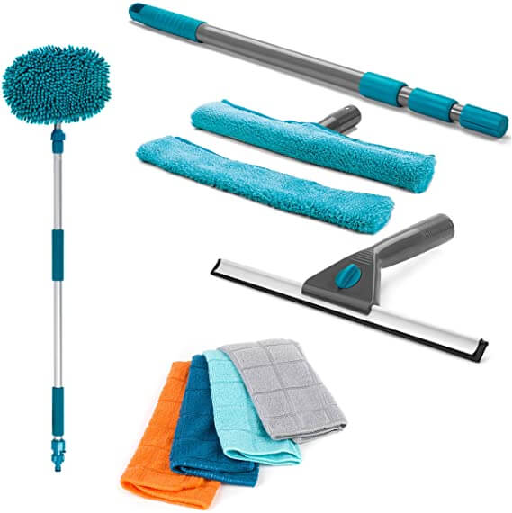 Window Cleaning Set with Outdoor