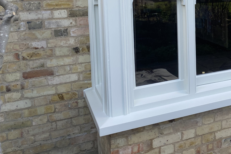 Bay window frame repair and re-decoration | after