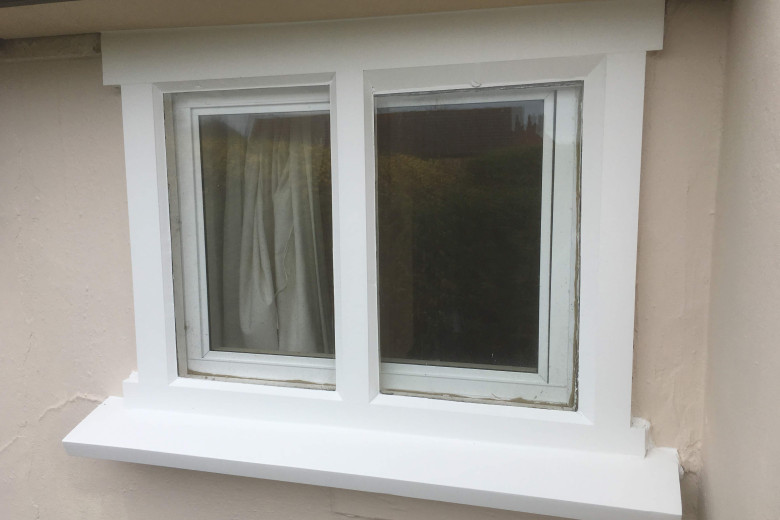Old cottage window repair and painting | after