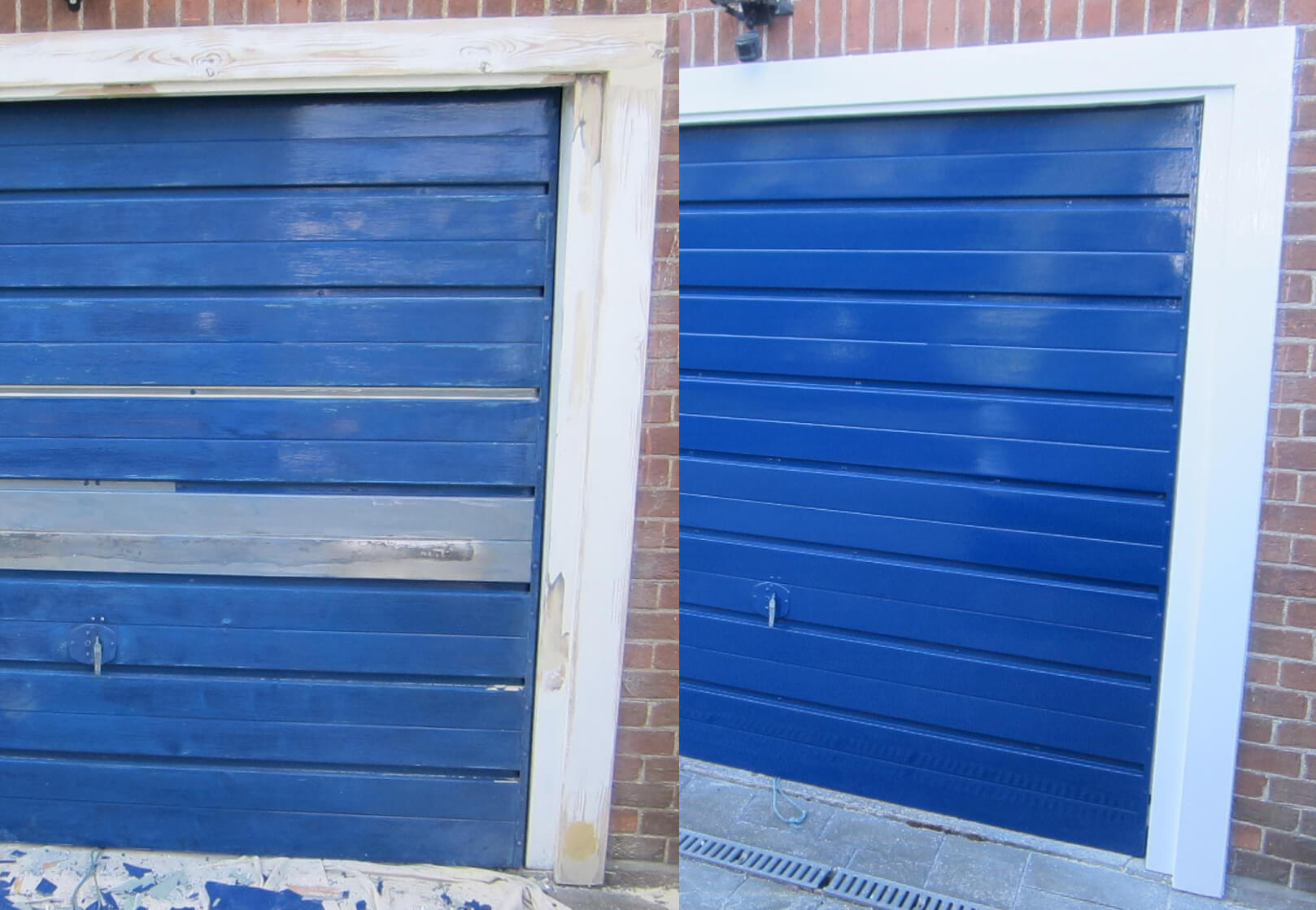 How to paint a metal garage door