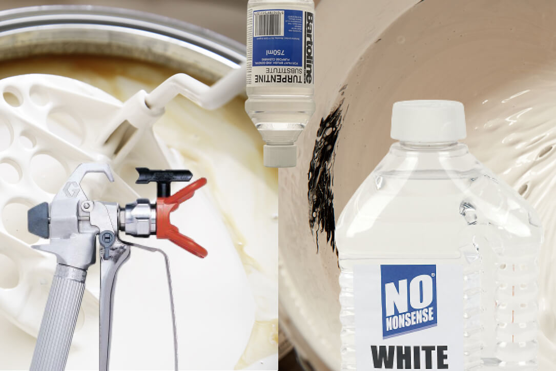How to thin/dilute emulsion and oil-based paint for spraying