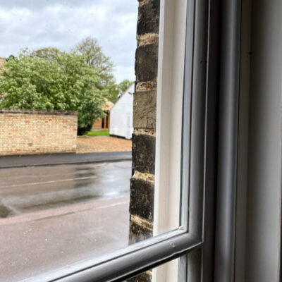 Reduce noise in half with new double glazing
