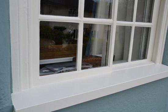 Wooden window sill replacement | after