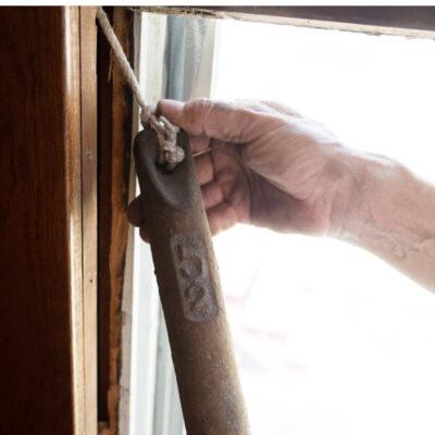 Sash window weights rebalancing