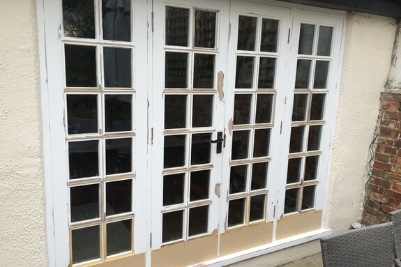 Spliced door repairs