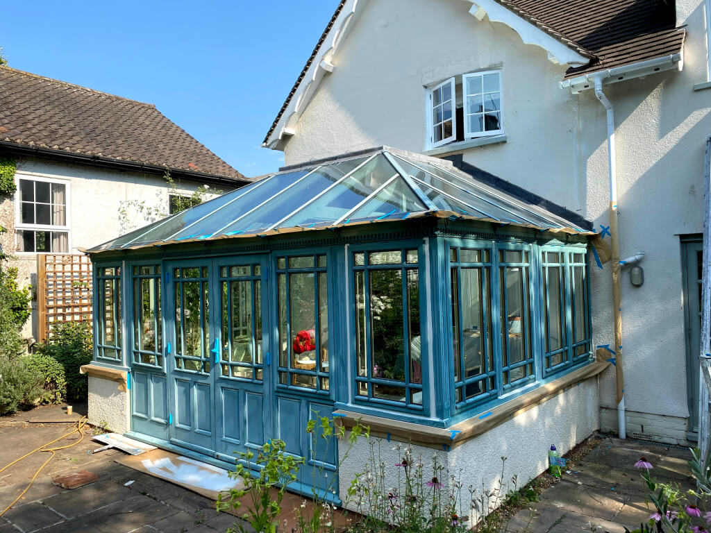 before painting conservatory