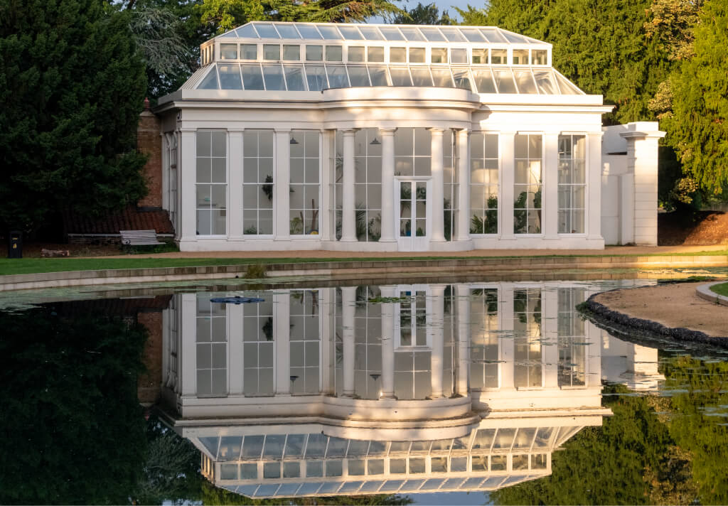 orangery with larger panes of glass