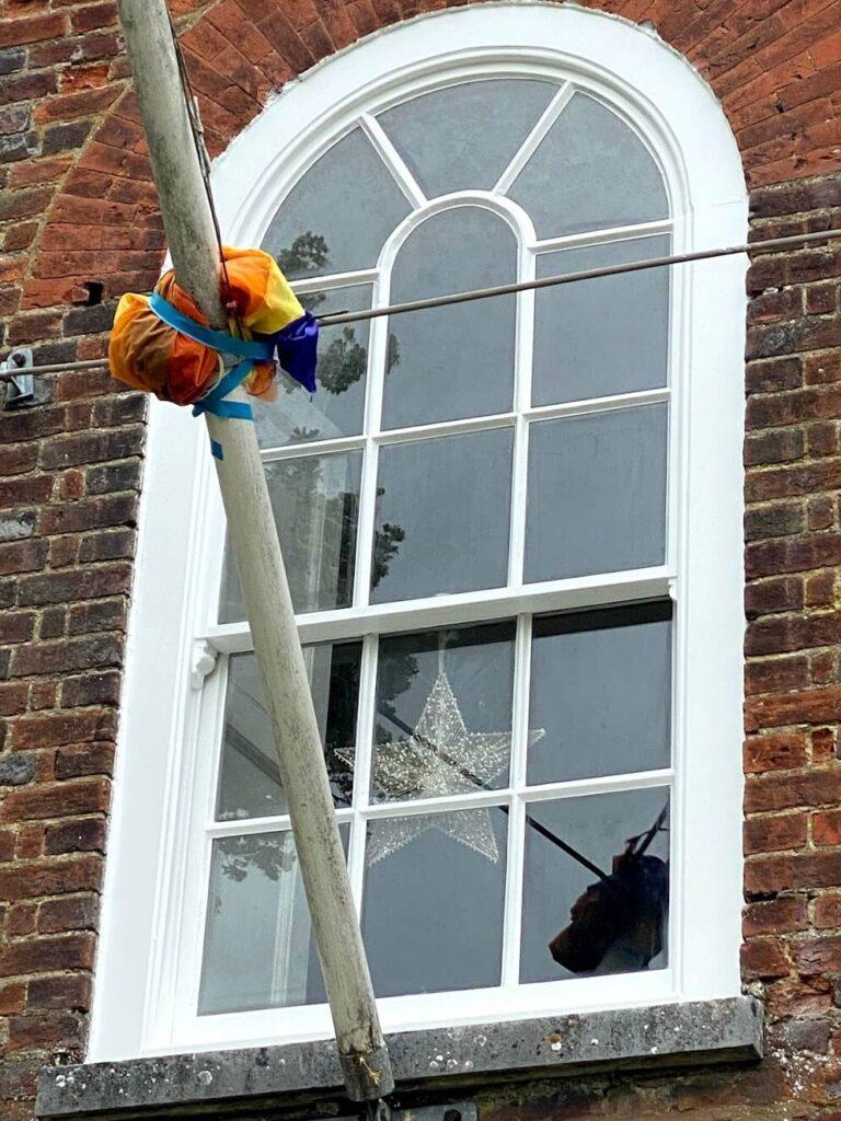 arch windows after refurbishment