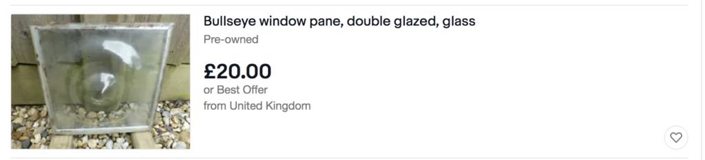 Bullseye windows pane