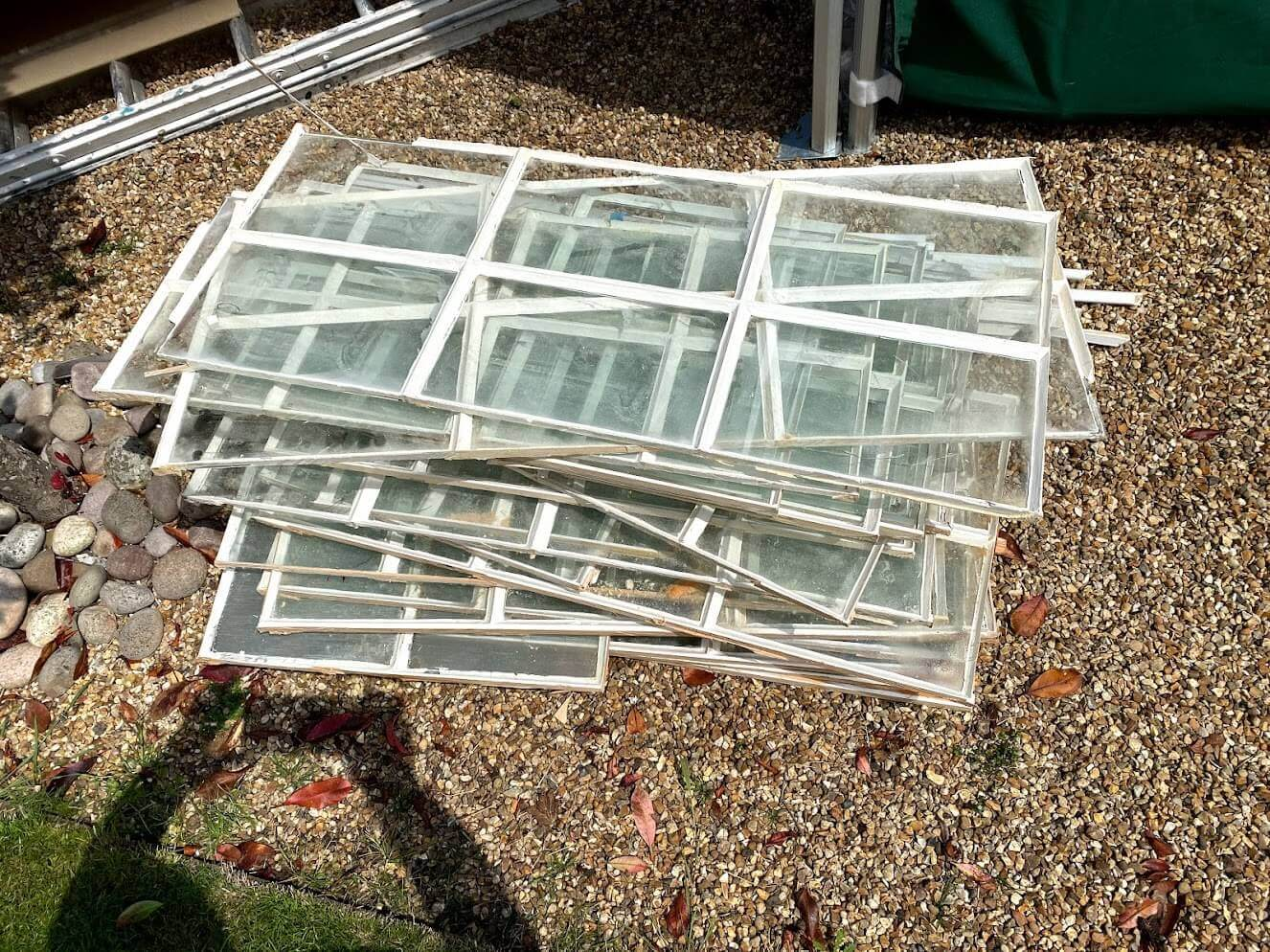 How to dispose of glass window panes