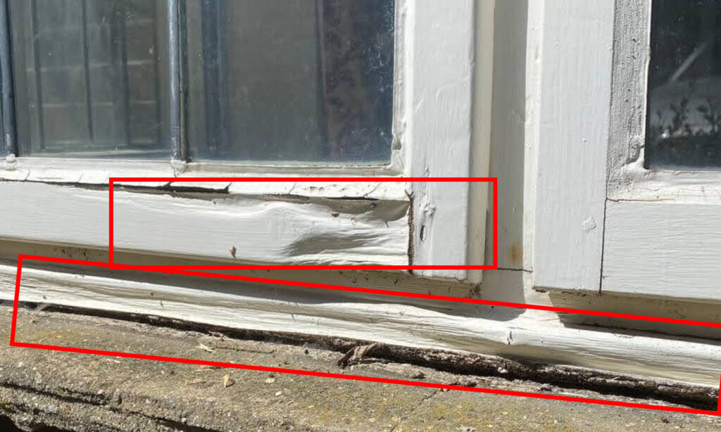 example of rotten windows timber frame