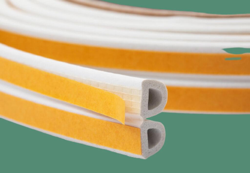 Foam rubber for windows insulation