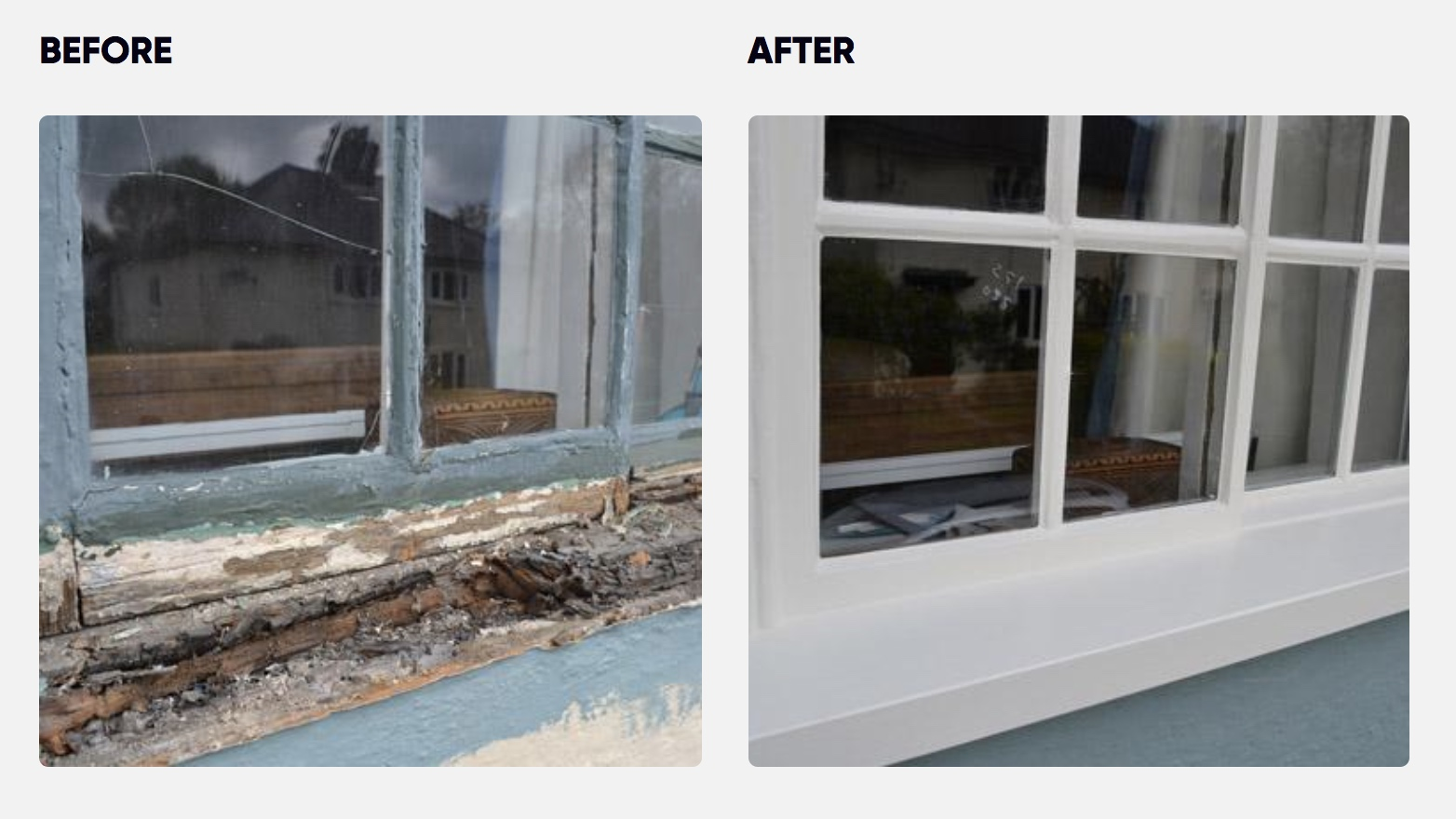 Sash window sill replacement